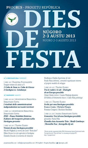 Inaugurazione Dies de Festa 2013