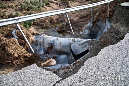 SP. 73, ponte crollato (foto, S. Novellu - Cronache Nuoresi)
