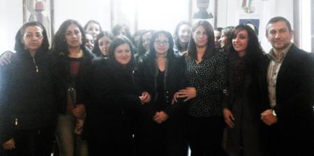 le tredici allieve con il sindaco Giovanni Mossa (foto.S.Meloni Cronache- Nuoresi)