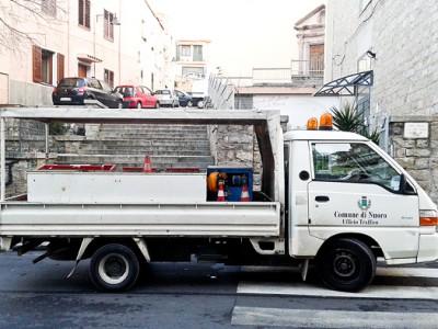 Mezzo dell'Ufficio del Traffico (foto S. Novellu - Cronache Nuoresi)