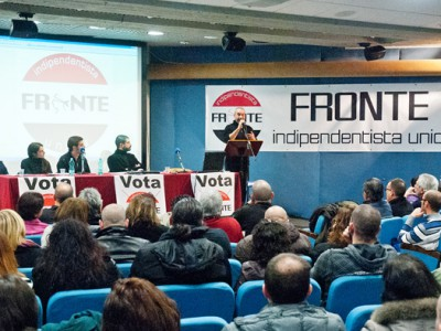Presentazione liste Fronte Indipendentista Unidu (foto S.Novellu - Cronache Nuoresi)