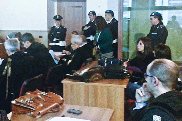 Un momento del processo per l'omicidio di Dina Dore (foto Cronache Nuoresi)