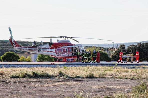 Recuperata in elicottero la donna rimasta ferita a Lanaittu