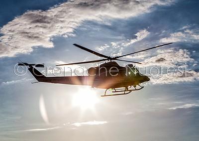 Un elicottero dei Vigili del fuoco del Comando Provinciale di Nuoro (© foto S.Novellu)
