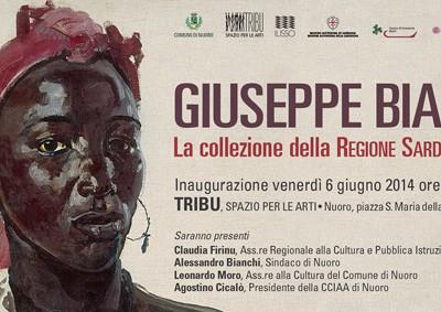 L'invito alla mostra antologica su Giusepe Biasi
