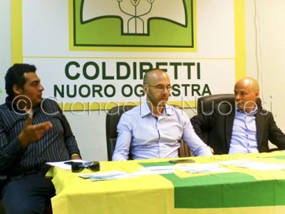 La conferenza stampa di Coldiretti (© foto G.Bolle - Cronache Nuoresi)