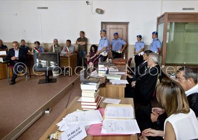 Francesco Rocca depone al processo per l'omicidio Dina Dore (© foto S. Novellu)