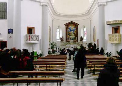 L'interno della Parrocchia di Sant'Andrea a Orani