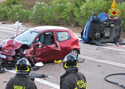 Due dei mezzi coinvolti nell'incidente