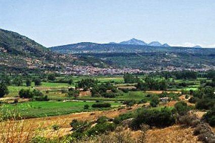 L'abitato di Galtellì