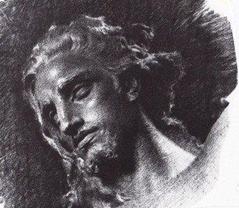 V. Jerace, disegno della statua del Redentore