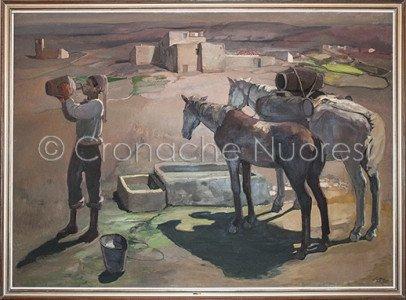 Giuseppe Biasi, Il Pomeriggio, olio su tela, 1930 ca. (© foto S.Novellu)