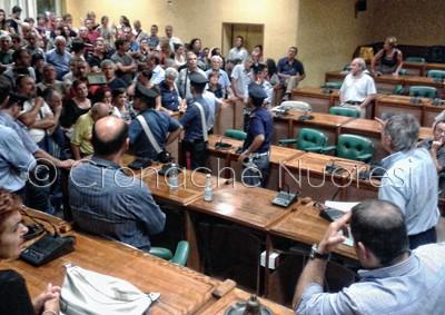 Il Sindaco Alessandro durante l'incontro (© foto S. Novellu)