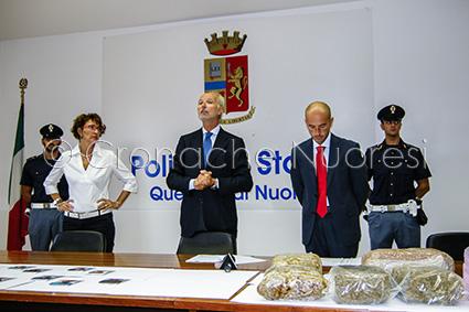 Un momento della conferenza stampa in Questura (© foto Cronache Nuoresi)