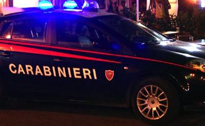 Un'auto dei Carabinieri sulle strade di San Teodoro