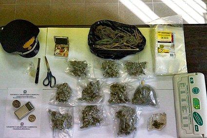 Trovato con 600 grammi di marijuana in casa