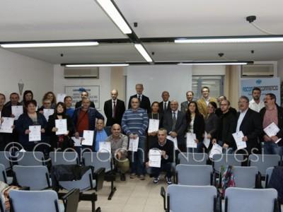 I corsisti con l'attestato di partecipazione (© foto S.Meloni)
