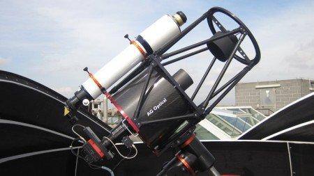 Il telescopio dell'Osservatorio astronomico del Dipartimento di Fisica dell'Università
