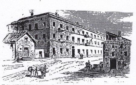 La Sottoprefettura di Nuoro nel disegno dell'Agabiti del 1882