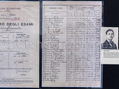 Un registro scolastico con il nome dello scolaro Attilio Deffenu (© foto S.Novellu)