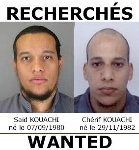 Said e Chérif Kouachi, i killer ricercati