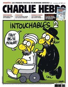 Una copertina del settimanale satirico Charlie Hebdo