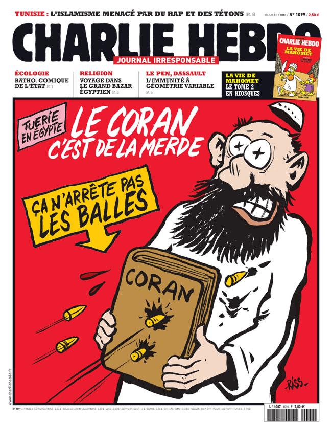 Una copertina del Charlie Hebdo
