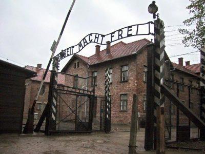 Un'immagine di Auschwitz oggi
