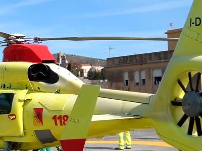 Un elicottero del 118 della Regione Sicilia