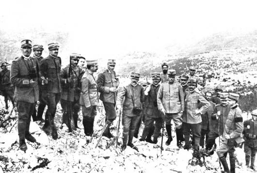 I generali Badoglio, Cadorna e Porro sul Monte Sabotino