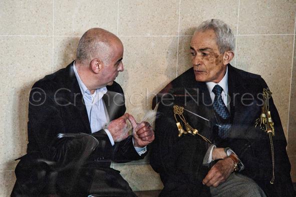 Francesco Rocca con l'avv. Mario Lai (© foto S.Novellu