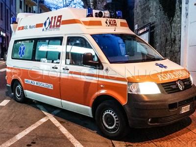 L'ambulanza medicalizzata del 118 (© foto S.Novellu)