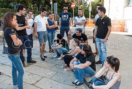 Studenti nuoresi protestano in Comune contro la chiusura dell'Ateneo (© foto S.Novellu)