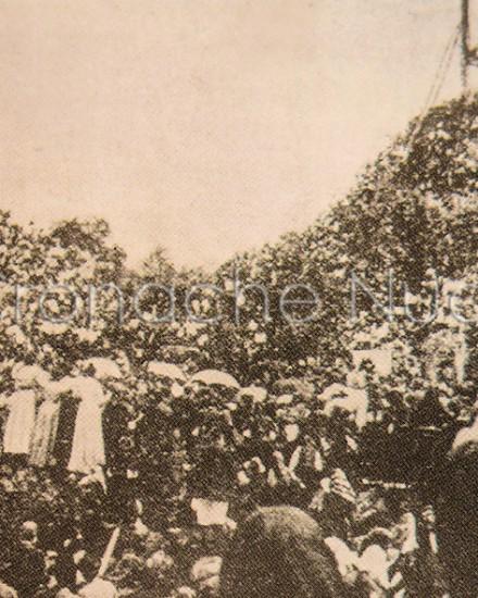 Inaugurazione della statua (ingabbiata) del Redentore (1901)