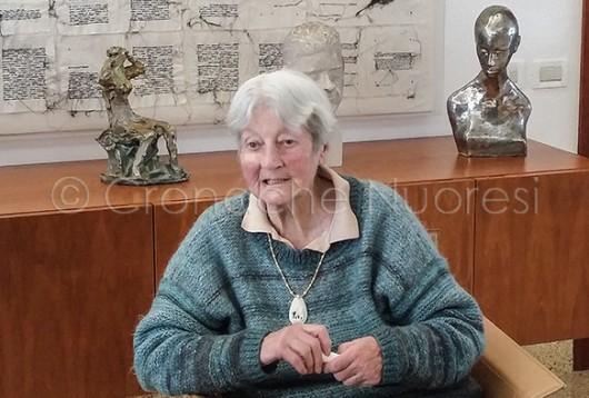 Marianne Sin-Pfältzer nel giorno del suo 89° compleanno (© foto S.Novellu - Tutti i diritti riservati)