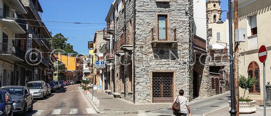 Uno scorcio del centro storico di Barisardo (© foto S.Novellu)