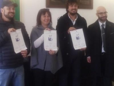 I-vincitori-del-Concorso-e-l'assessore-Marcello-Seddone