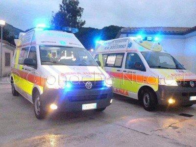 Due ambulanze della Cooperativa MM Soccorso di Orosei