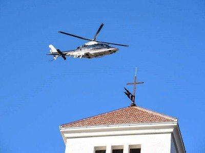 Elicottero dei CC impegnato nell'Operazione antidroga