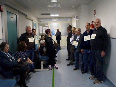 La protesta dei cardiopatici Ogliastrini