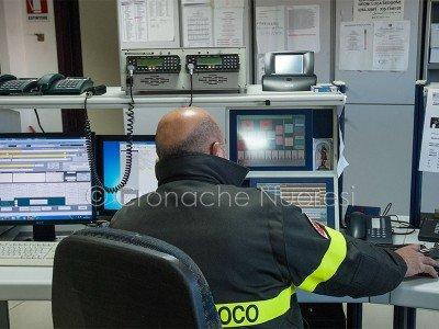 La sala operativa dei Vigili de fuoco (foto Cronache Nuoresi)
