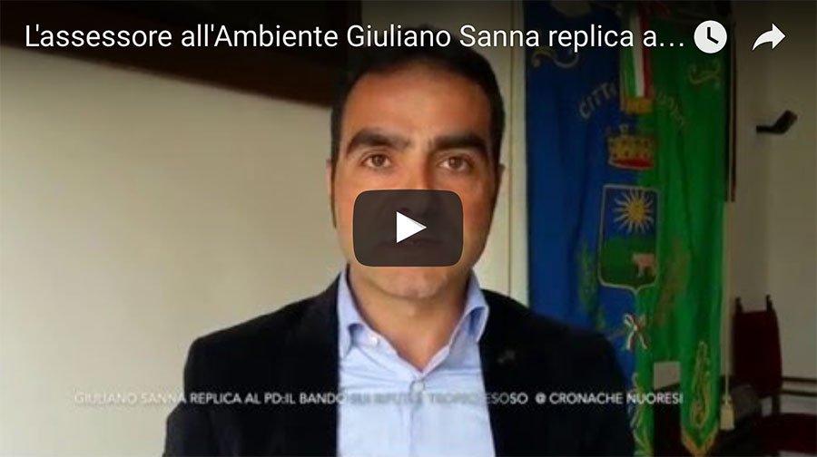 L'assessore all'Ambiente Giuliano Sanna