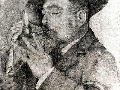 Francesco Ganga (noto Predischedda) in un disegno dal vero di Francesco Congiu Pes