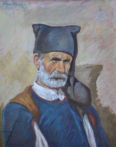 Manca Antonio noto Faragone (marito di Peppedda) dipinto di Remo Branca
