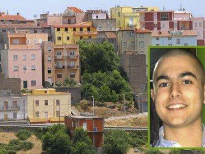 Uno scorcio di Orune e nel riquadro la vittima Gianluca Monni