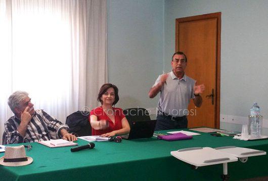 LA conferenza stampa sulla sentenza relativa all'amianto (foto Cronache Nuoresi)