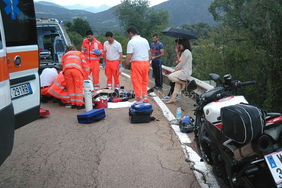 Il personale 118 sul luogo dell'incidente