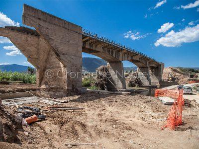 Il ponte di Oloè qualche giorno dopo il crollo (foto S.Novellu)
