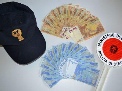Le banconote false recuperate dalla Polizia