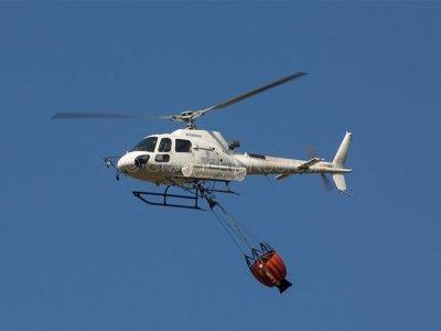Un elicottero dell'anti incendio (foto S.Novellu)